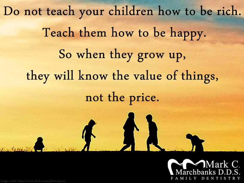 do not teach your children how to be rich teach them how