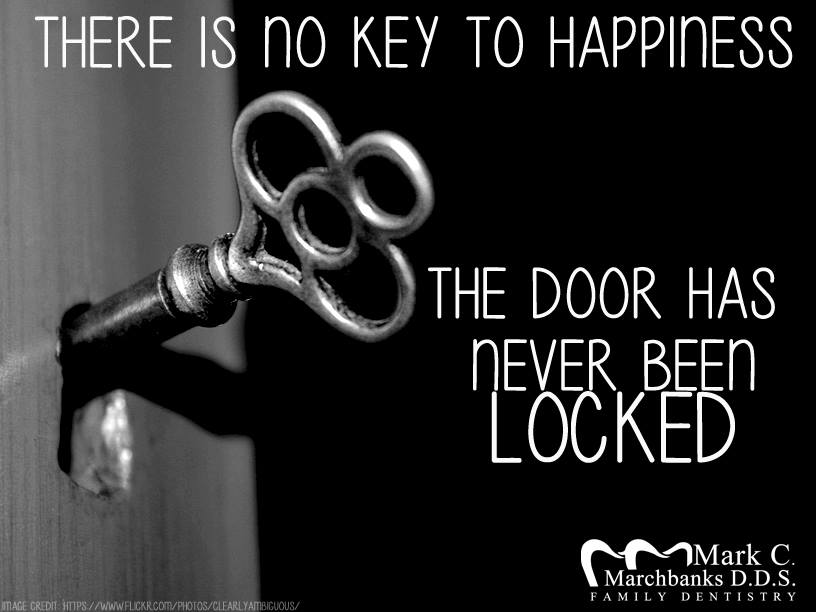 There-is-no-key-to-happiness-the-door-has-never-been-locked