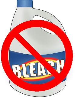 Don't use bleach on a knocked out tooth says Dr. Marchbanks