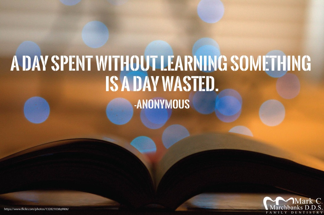 A day spent without learning something is a day wasted