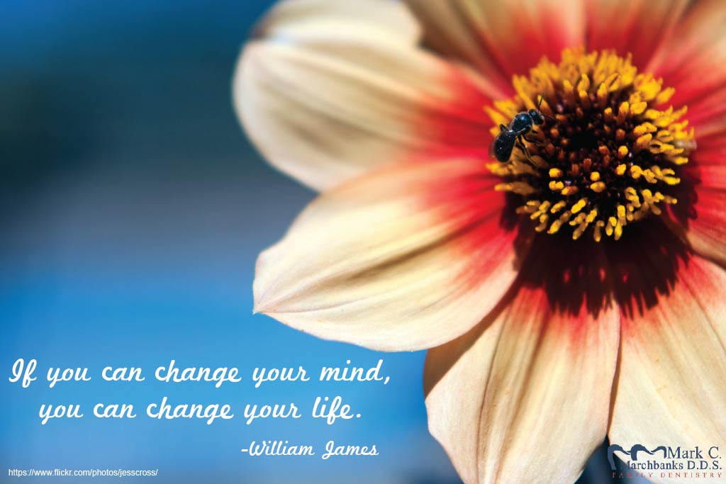 If you can change your mind, you can change your life