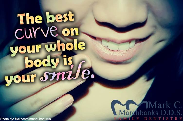 The best curve on your whole body is your smile