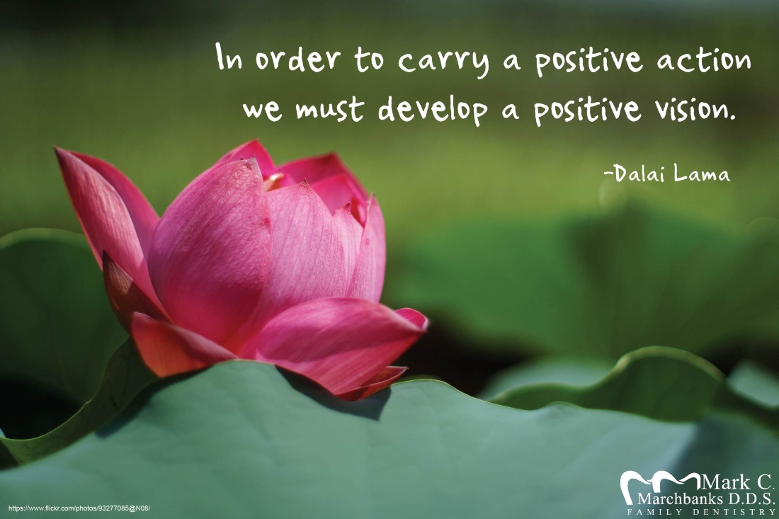 In order to carry a positive action we must develop a positive vision