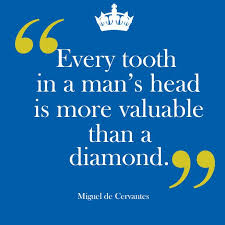 miguel cervantes tooth quote meme